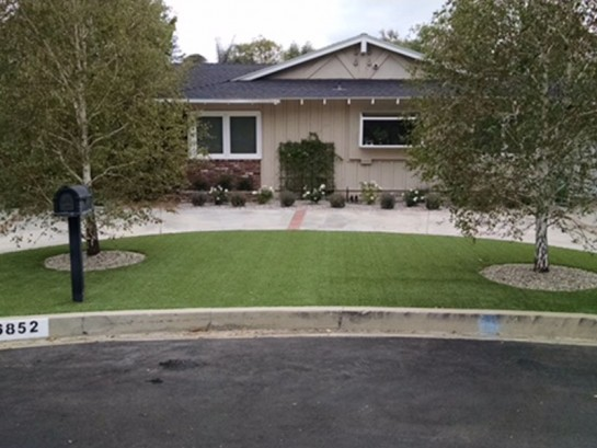 Artificial Grass Photos: Grass Installation Rancho Santa Fe, California Home And Garden, Front Yard Landscaping