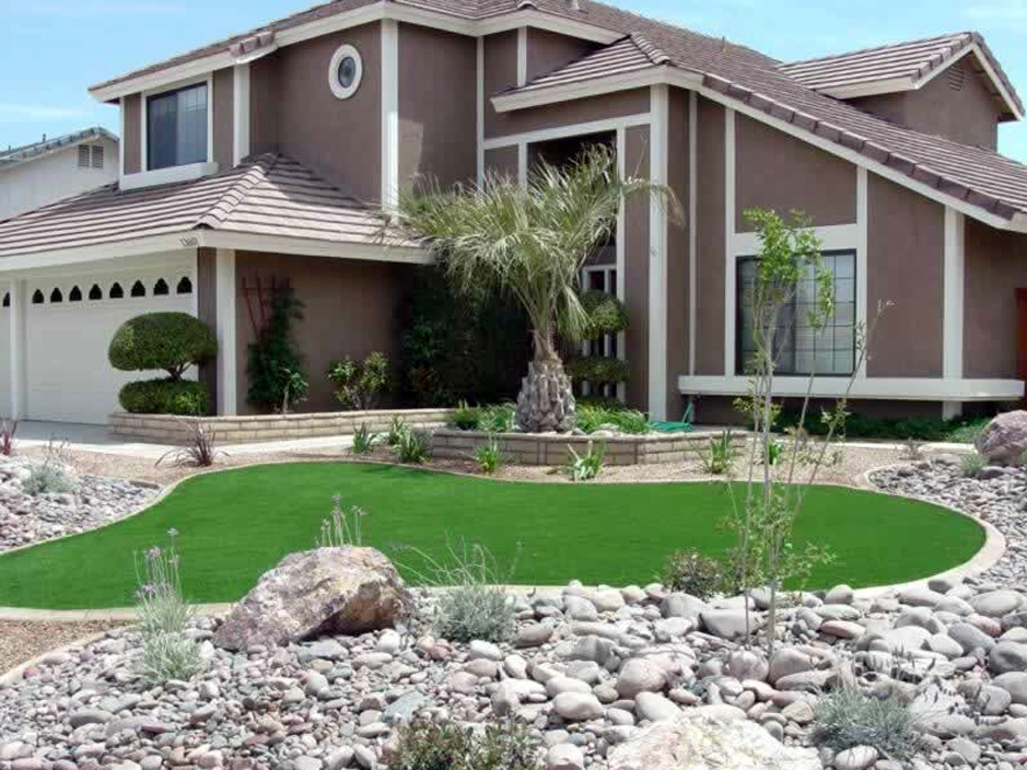 Plastic Grass Rancho San Diego, California Garden Ideas, Small Front Yard  Landscaping